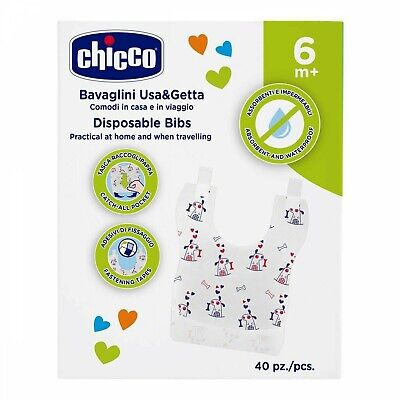 Bavoirs Chicco Jetables 40 Pcs