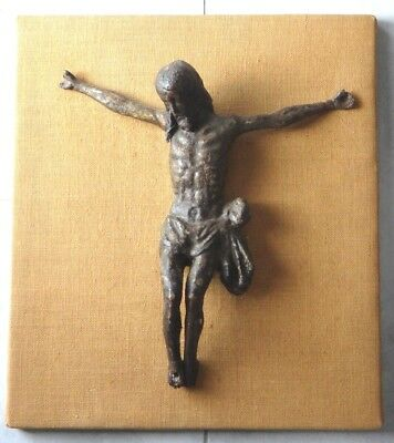 Large wooden carved sculpture jesus christ 17th haute epoque 16 inches religious
