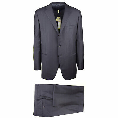 New $2400 Burberry Midnight Navy Blue Super 100's Suit - 46/56 - (OXFORD106519)
