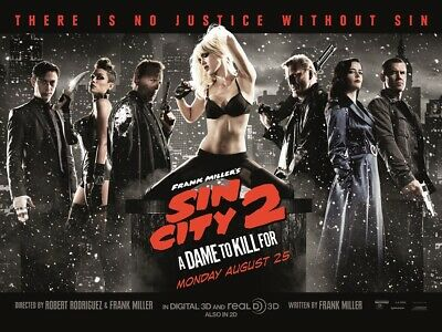 SIN CITY 2 Movie Poster | A4 A3 & A3+ Sizes Laminated | HD Print | FILM