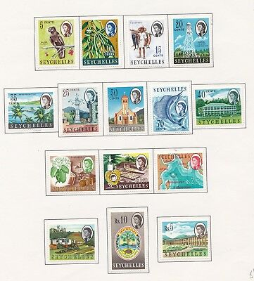 Seychelles 1962  Complete set to 10 Rupee Fresh mint