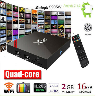 X96 Android 7.1 Smart TV Box Amlogic S905W Quad Core 2G/16G 4K Media Player H6Y9
