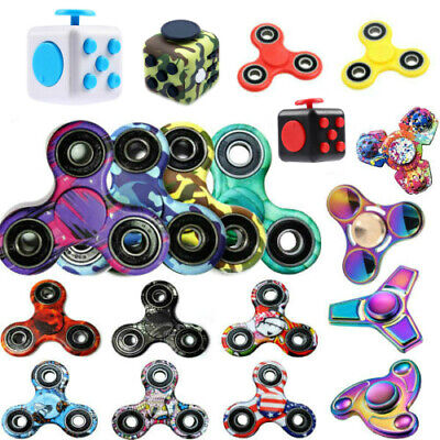 Metal Fidget Finger Spinner Hand Focus Ultimat EDC Bearing Stress Toys UK Seller