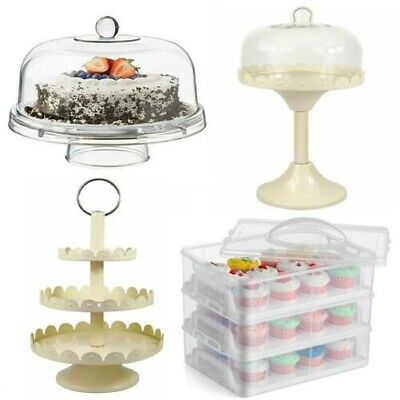 Gr8 Home Cupcake Muffin Carrier Stand Cover Plate Box Wedding Party Cake Holder