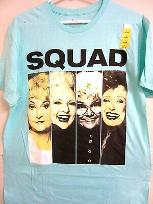 "$4 XMAS GIFTS ONLY A FEW LEFT! Small 34/36 Golden Girls Fans! ""Squad"" Aqua Tee"
