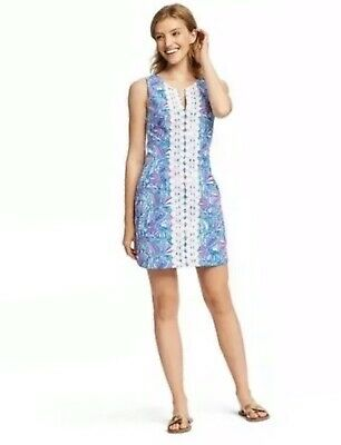 Lilly Pulitzer Target 20th Anniversary My Fans Split Neck Dress Size 4 NWOT