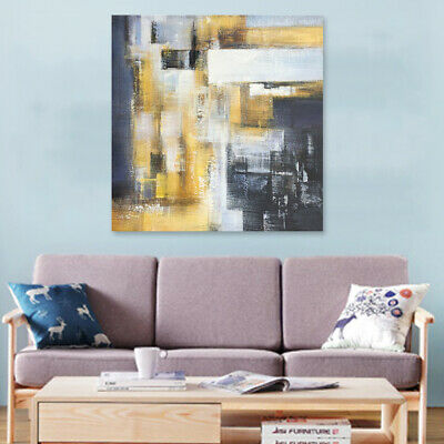 Hand-painted Home Modern Abstract Wall Art Decor Oil Painting Canvas With Frame