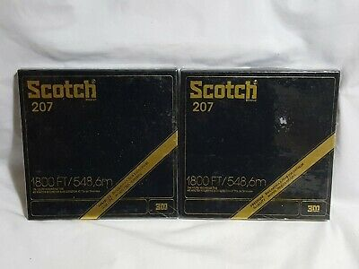 NEW (Read) 2 X Scotch 207 Premium Quality Recording Tape SEALED 7R-1800 3M 1800