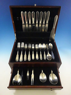 Mitra Mirror by Georg Jensen Stainless Steel Flatware Set For 8 Service Estate