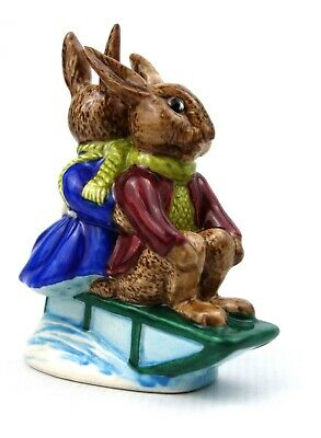 Royal Doulton Sleigh Ride Billie & Buntie Bunnykins Figurine