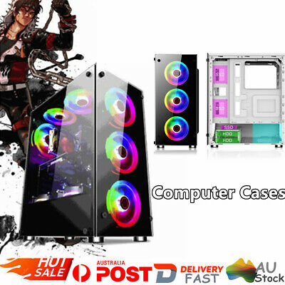 Gaming Computer RGB PC Chassis Case Cover Side Tempered Glass DIY Computer Case