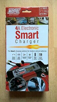 Maypole 7423 6V/12V 4A  Electronic Smart Battery Charger
