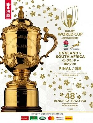 2019 RUGBY WORLD CUP FINAL - England v South Africa programme (MINT CONDITION)