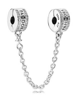 Authentic Pandora Silver 925 ALE Insignia Safety Chain Bead 792057CZ