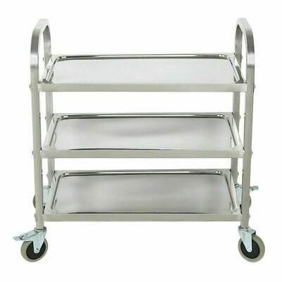 Utility 3-Shelf Kitchen Restaurant Buffet Trolley Cart Stainless Commercial