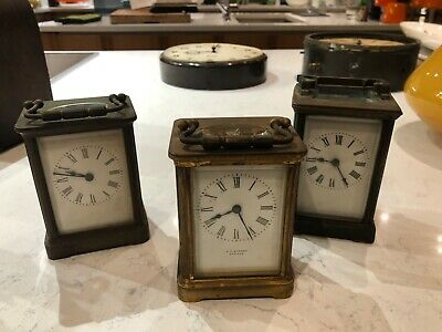 Carriage clock collection. R & Co Paris, Depree Exeter,