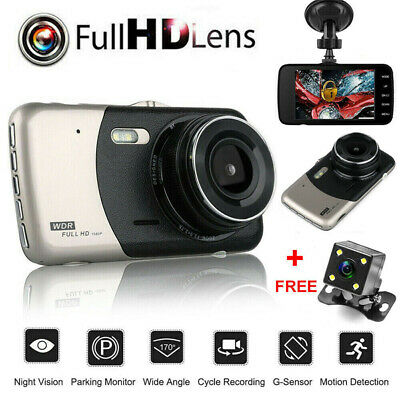 4'' HD 1080P Double Objectif Voiture DVR Camera Video Dash Cam Recorder 170° FR