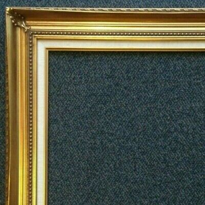 "4.25"" Gold Leaf Wood Picture Frame wide photo art gallery B4gL frames4art"