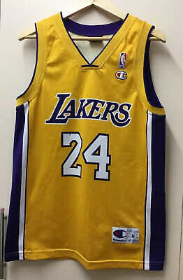 La Lakers Kobe Bryant 24 NBA Basketball Champion Jersey MEDIUM