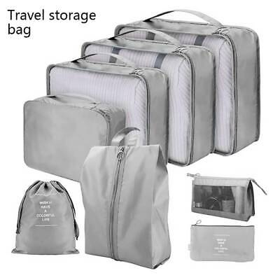 8pcs Packing Cube Pouch Suitcase Clothes Storage Bags Travel Luggage Organiser