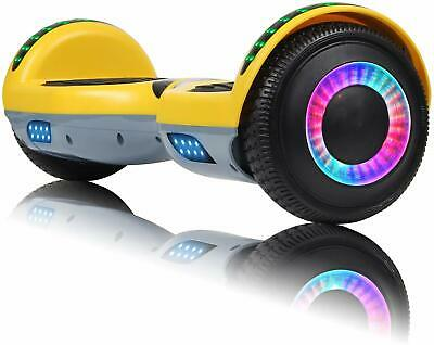 """6.5"""" Hoverboard Bluetooth Electric Self Balancing Scooter No Bag Yellow - UL2272"""