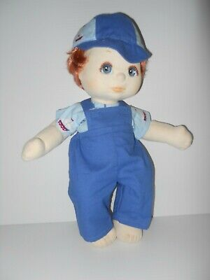 My Child Boy Doll Clothing. Blue Overall, Top Light Blue Fabric & Cap