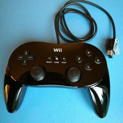 Nintendo Wii or WiiU Black Classic Pro Controller Gamepad Genuine Official