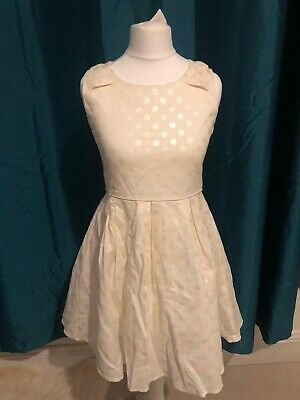 Cream Yumi girl party dress with netting underskirt age 11-12