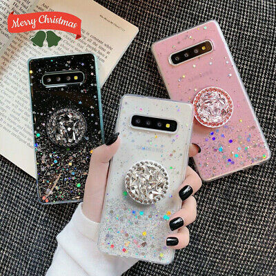 Bling Glitter Case For Samsung S8 S9 S10 Plus A40 A50 A70 Note With Stand Holder