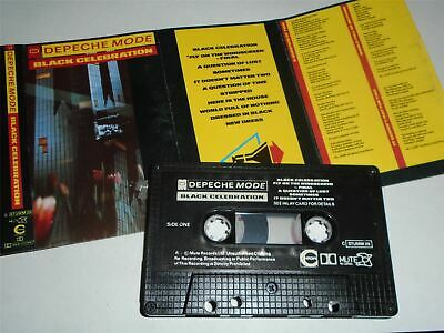 Depeche Mode - Black Celebration STUMM26 Black Paper Label Cassette Tape