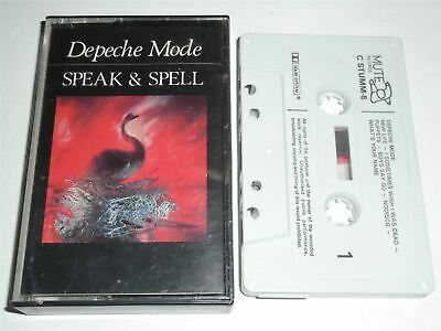 Depeche Mode - Speak and Spell STUMM5 MUTE White Shell Black Text  Cassette Tape