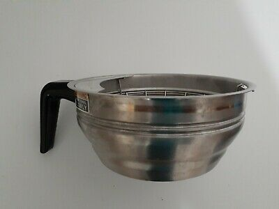 Stainless Steel Commercial Coffee Filter Brew Basket w/ Splashguard