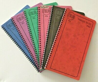 Seconds New Nu Vibe Red Blue Grey Green Pink Lilac Things To Do Pad List Book