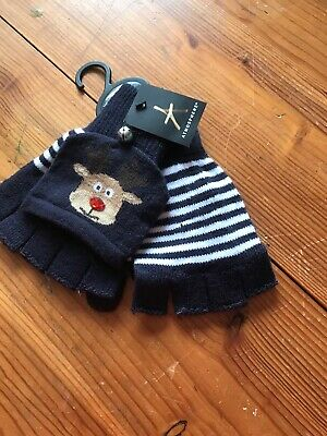 Childs REINDEER Gloves / Mittens With Bells BNWT Christmas ONE SIZE