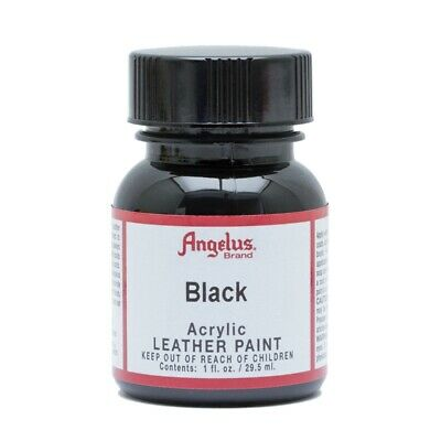 Angelus Acrylic Leather Paint for Sneakers, Shoes, Bags -Black - 1oz / 4oz
