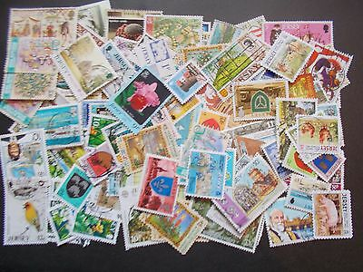 Quality Packet of 100 Different Used Jersey Stamps~Collection~UK Seller