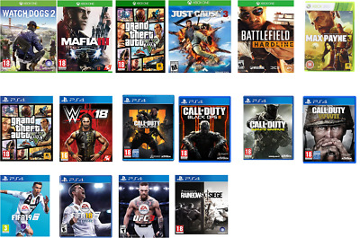 Variety of PS4/Xbox One/Xbox 360 Games !