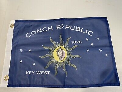 """12x18 Embroidered Key West Conch 2ply 220D-D Nylon 12/""""x18/"""" Grommets BANNERS"""