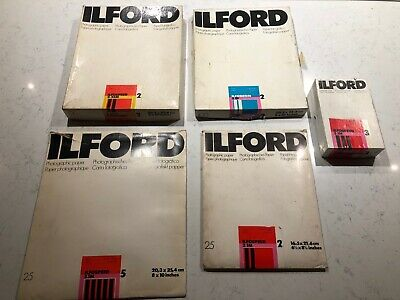Vintage Ilford Photographic paper selection