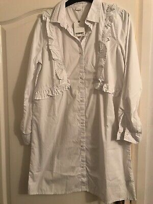 Next girls white shirt dress , would look lovely with belt & boots age 13 rrp£18