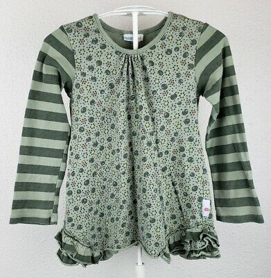 NAARTJIE Kids green stripes and dots Top 7 years shirt