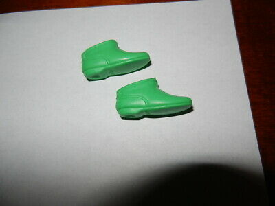 Vintage Barbie Shoes Japan Kelly Green Squishy Go Go Ankle Boots Mod
