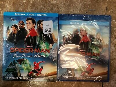 Spider-man: Far From Home 2019 Blu-ray DVD Digital w/Slipcover