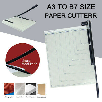 A3 to B7 Size Paper Cutter Guillotine Trimmer 15 Sheets B4 A4 B5 A5 B6 B7 AU New