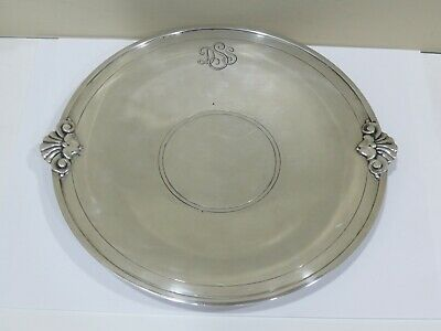 """Vintage Tiffany & Co. MAKERS Sterling Silver Footed Tray - 9"""""""