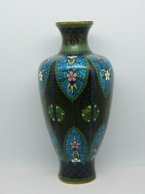 Antique Chinese Cloisonne Enamel on Bronze Small Vase