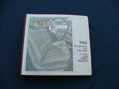 1968 Oldsmobile dealer album - color and fabric selector, nice! 442