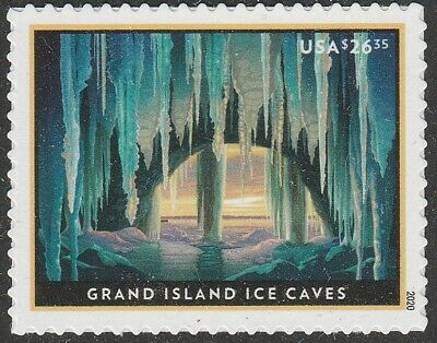US 5430 Express Mail Grand Island Ice Caves $26.35 single (1 stamp) MNH 2020