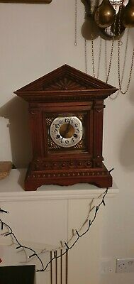 beautiful 19th century clock. German Junghans ... cleaned and greased.