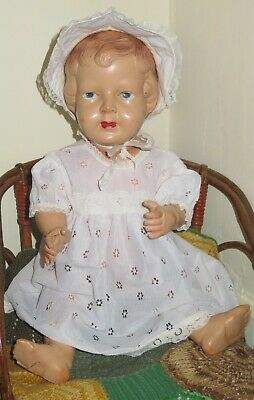 Princess Elizabeth celluloid doll, PALITOY, made in England, c1930s